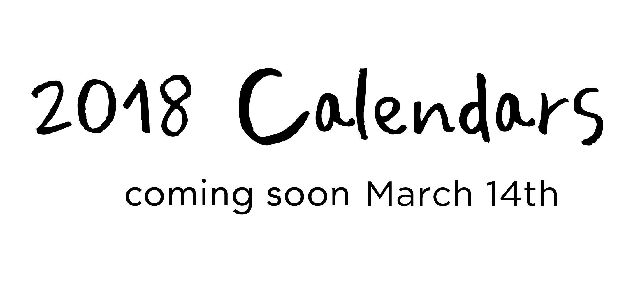 calendars-comin-soon