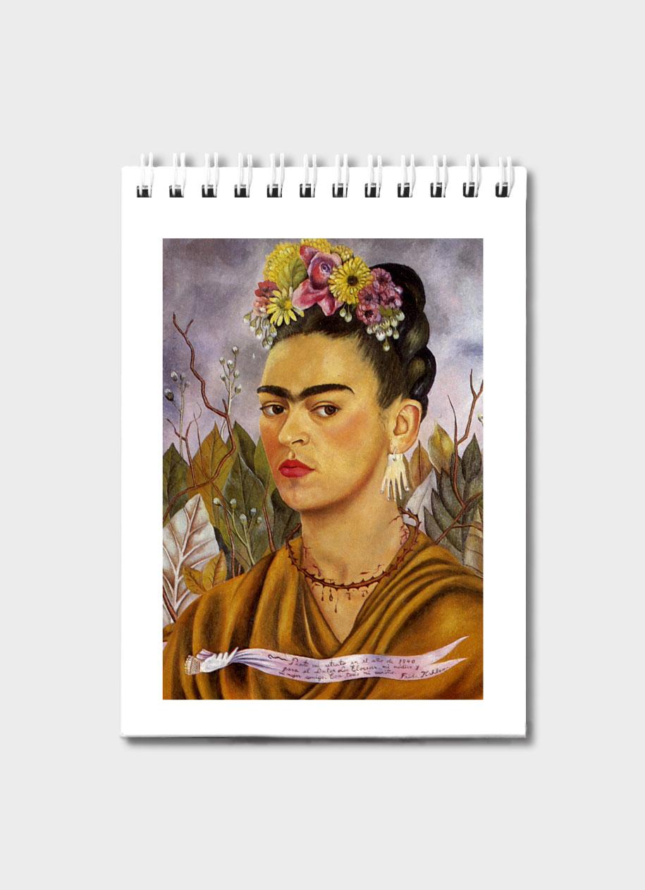 Canvas Print Poster FRAMED Self Portrait Dr Eloesser FRIDA KAHLO