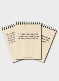 Timber Note Pads: Live Life Laugh