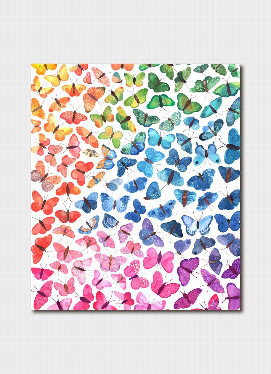 Ombre Butterflies